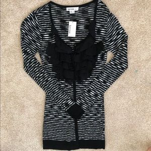Cardigan black and white Kensie Size S